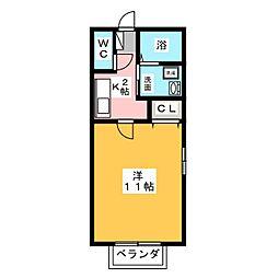 パークハイム丸根[2階]の間取り