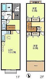 [テラスハウス] 東京都八王子市兵衛1丁目 の賃貸【/】の間取り