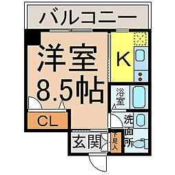 愛知県名古屋市中川区山王1丁目の賃貸マンションの間取り
