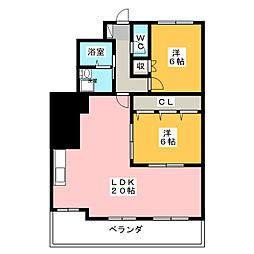 ユウチマンション[5階]の間取り