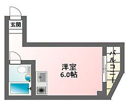 サンフラワー駒川[6階]の間取り