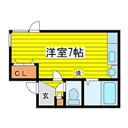 北海道札幌市東区北十五条東15丁目の賃貸アパートの間取り