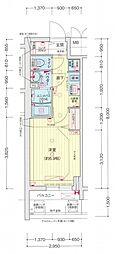 名古屋市営名城線 東別院駅 徒歩3分の賃貸マンション 6階1Kの間取り