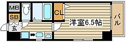エステムコート梅田天神橋リバーフロント[6階]の間取り