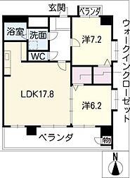 プロビデンス葵タワー[13階]の間取り