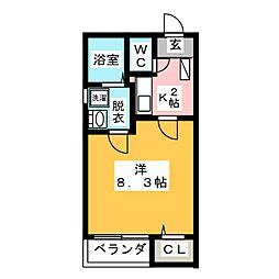 クレフラスト大同B棟[2階]の間取り