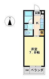愛知県名古屋市中村区中村中町4丁目の賃貸マンションの間取り