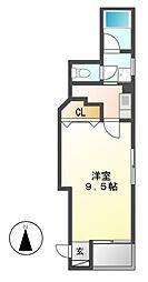 ジュネス5栄[4階]の間取り