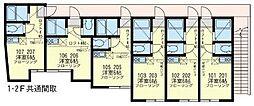 神奈川県横須賀市田浦町1丁目の賃貸アパートの間取り