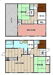 [一戸建] 福岡県北九州市八幡西区熊西2丁目 の賃貸【/】の間取り