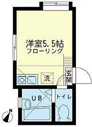 神奈川県横須賀市追浜町3丁目の賃貸アパートの間取り