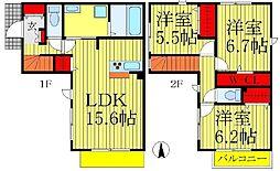 [一戸建] 千葉県松戸市松戸 の賃貸【/】の間取り