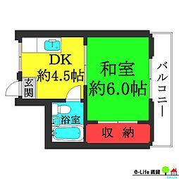 メゾン新井[4階]の間取り