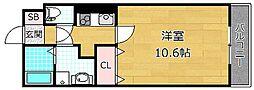 レジデンスナンワ香里園 A棟[2階]の間取り