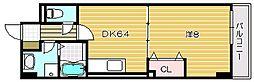 ハックベリー茨木南[4階]の間取り