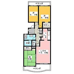ドルチェ広沢[2階]の間取り