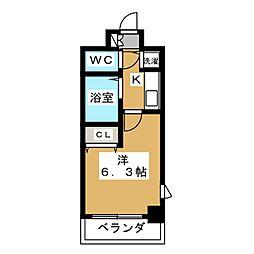 プレサンス京都烏丸御池II[9階]の間取り