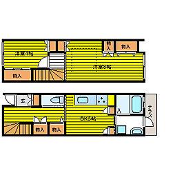 [タウンハウス] 大阪府大阪市福島区鷺洲2丁目 の賃貸【/】の間取り