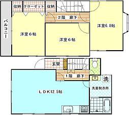 [一戸建] 神奈川県横須賀市田戸台 の賃貸【/】の間取り