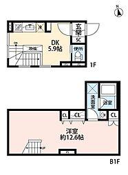 都営三田線 白山駅 徒歩2分の賃貸マンション 1階1LDKの間取り