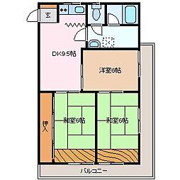 第二セントラルビル[6階]の間取り