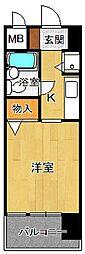 ジョイフル西宮2[402号室]の間取り