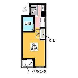 セザール金山 201[5階]の間取り