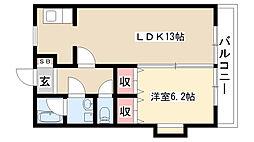 愛知県名古屋市南区柴田本通2丁目の賃貸マンションの間取り