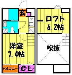 SAKURA VIEW(サクラビュー)[2階]の間取り