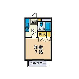 ハイツエンゼル[1階]の間取り