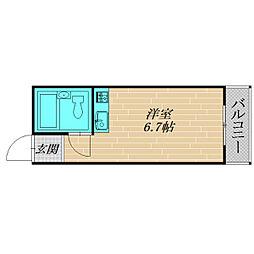 JPアパートメント旭[2階]の間取り