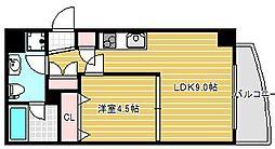 インボイス難波南レジデンス[5階]の間取り