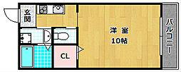 大阪府枚方市杉山手1丁目の賃貸アパートの間取り