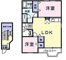 千葉県流山市長崎1丁目の賃貸アパートの間取り