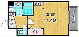 M'PLAZA津田駅前十番館[4階]の間取り