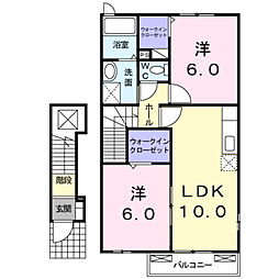 福岡県北九州市門司区大字畑の賃貸アパートの間取り