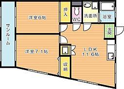 フェルト730II[5階]の間取り