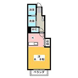 プリムローズTK[1階]の間取り