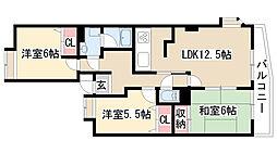 愛知県名古屋市緑区鳴丘1丁目の賃貸マンションの間取り