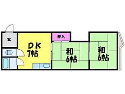 愛媛県松山市三番町2丁目の賃貸マンションの間取り
