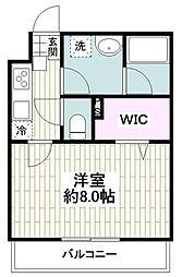 JR東海道本線 大船駅 徒歩6分の賃貸アパート 1階1Kの間取り