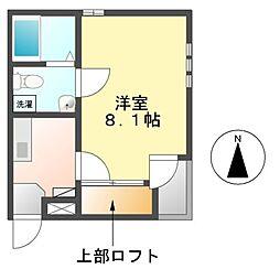 愛知県名古屋市中区千代田2丁目の賃貸アパートの間取り