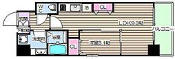 プリエ福島[4階]の間取り
