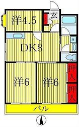 アーバン田中[2階]の間取り
