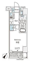 東京メトロ日比谷線 小伝馬町駅 徒歩4分の賃貸マンション 2階1Kの間取り