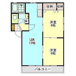 石川ハイツC[2階]の間取り
