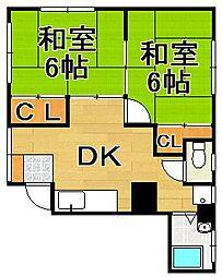 福岡県福岡市早良区飯倉5丁目の賃貸マンションの間取り