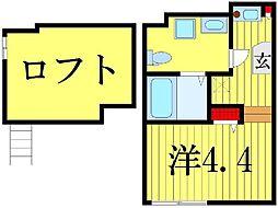ハーモニーテラス高砂[1階]の間取り