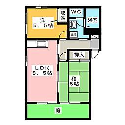 トア・メソン B棟[1階]の間取り