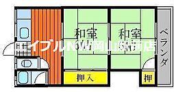 岡山県岡山市中区原尾島3丁目の賃貸マンションの間取り
